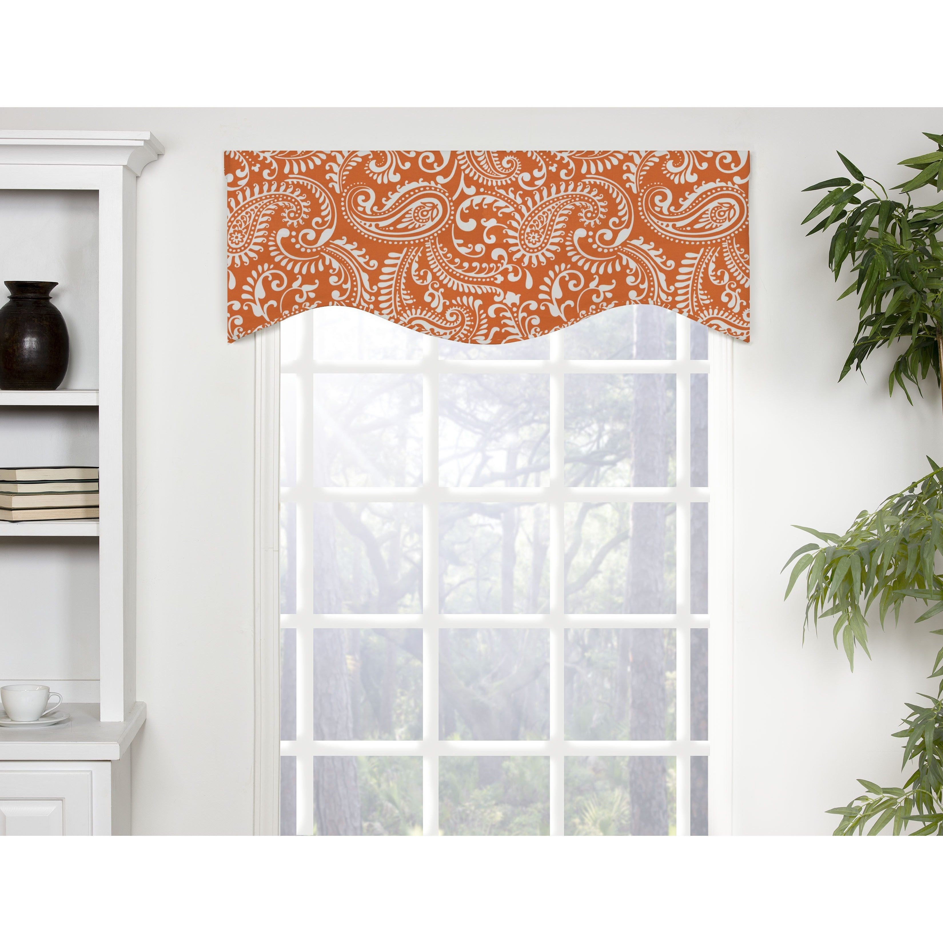 Shop carlo multicolored cotton shaped window valance free shipping today overstock 14221321