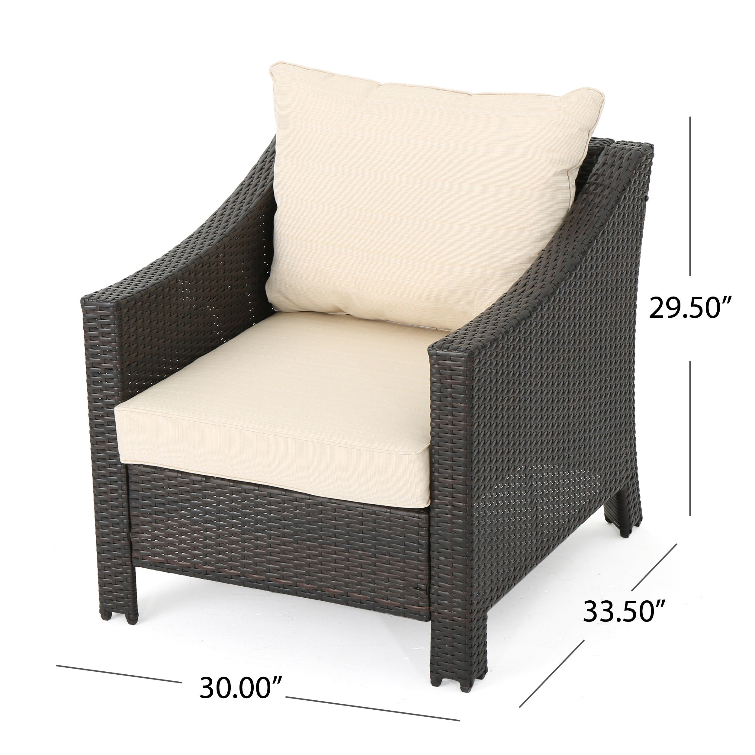 Antibes Outdoor Wicker Club Chair with Cushions (Set of 2) by ...