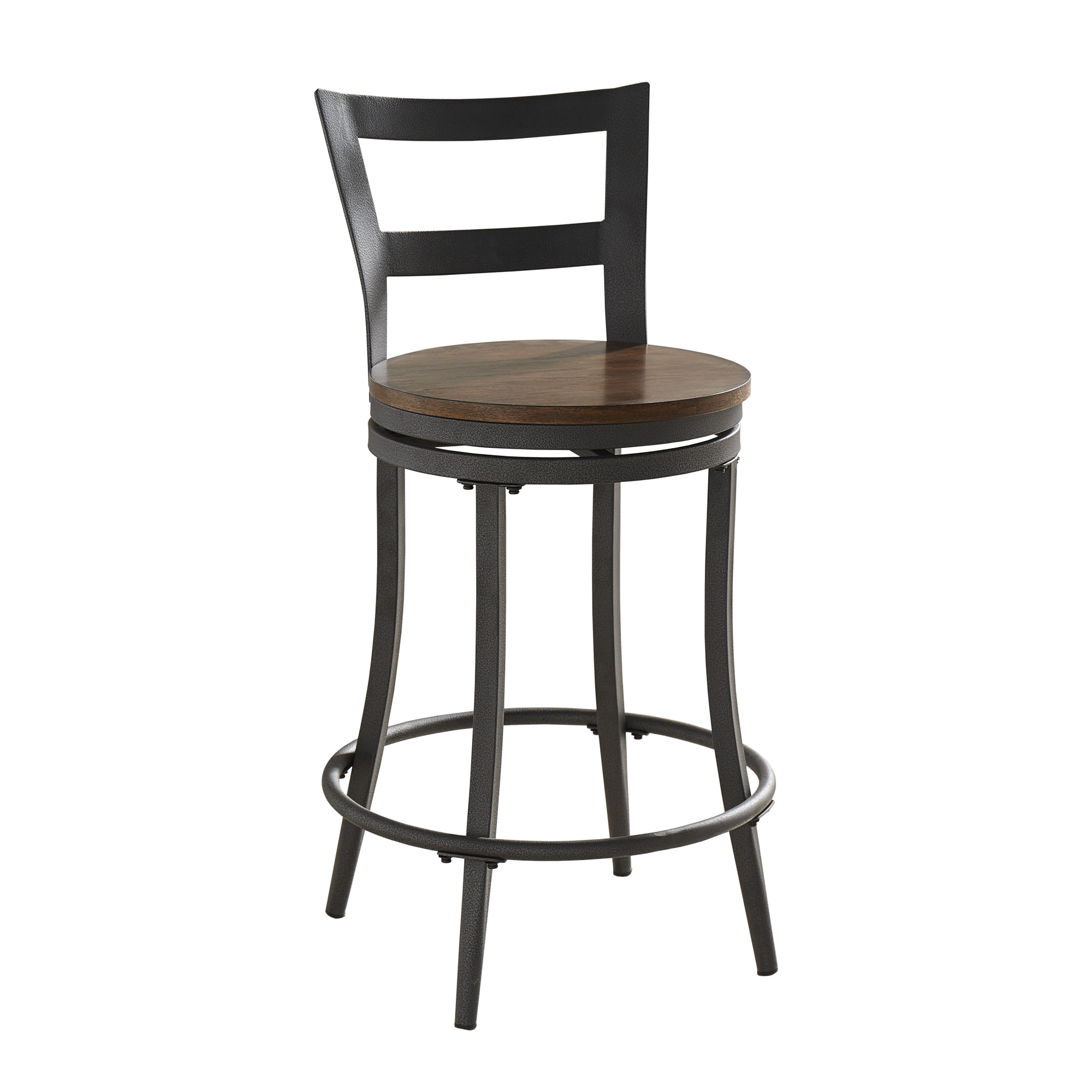 Shop Thompson Counter Height Swivel Stools Set Of 2 By Inspire Q