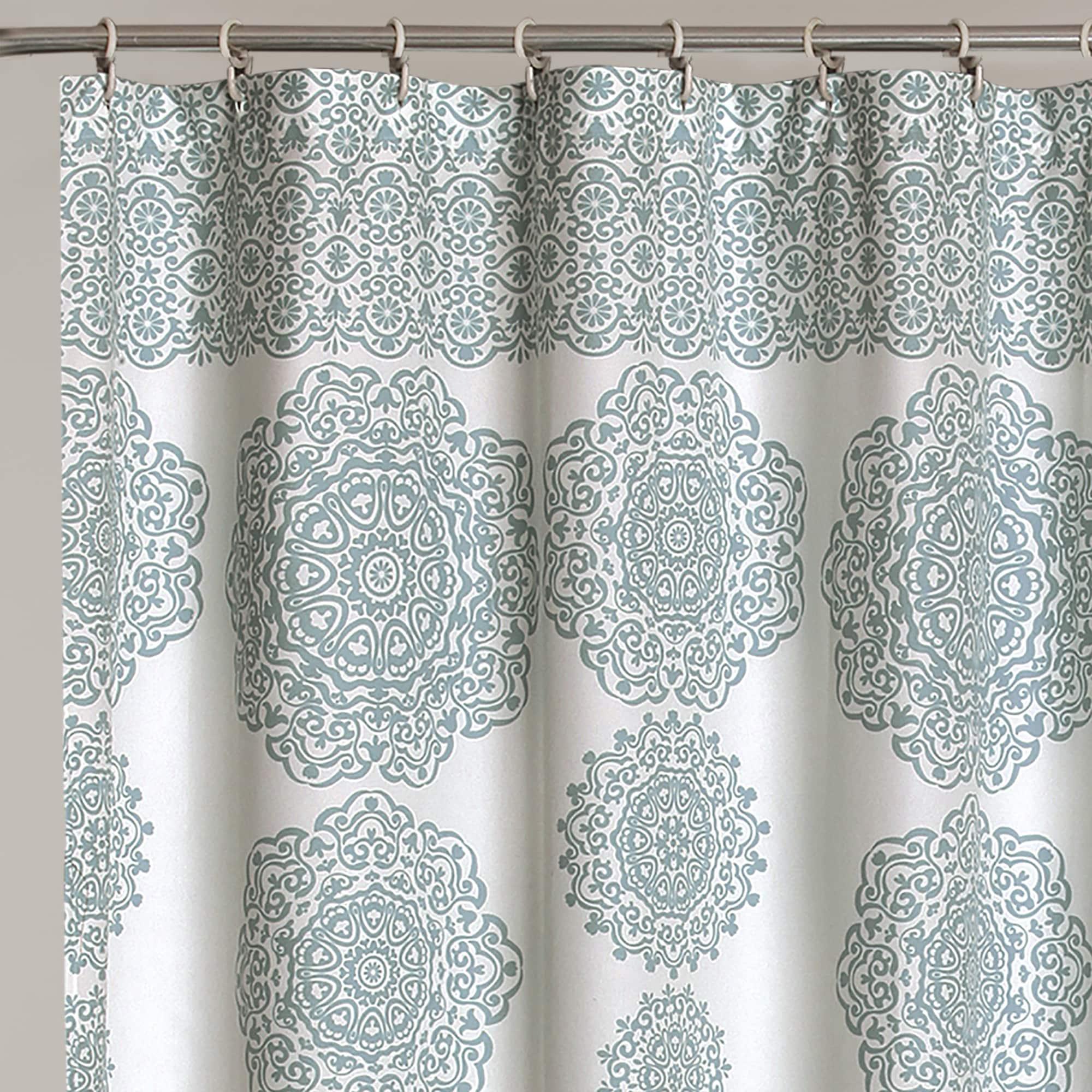 Shop Lush Decor Stripe Medallion Shower Curtain