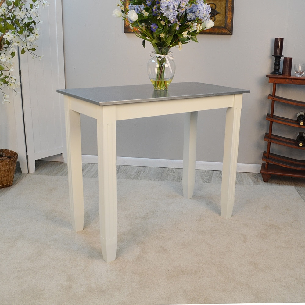 Shop Lucia Galvanized Top Bar Table   Free Shipping Today   Overstock.com    14228112