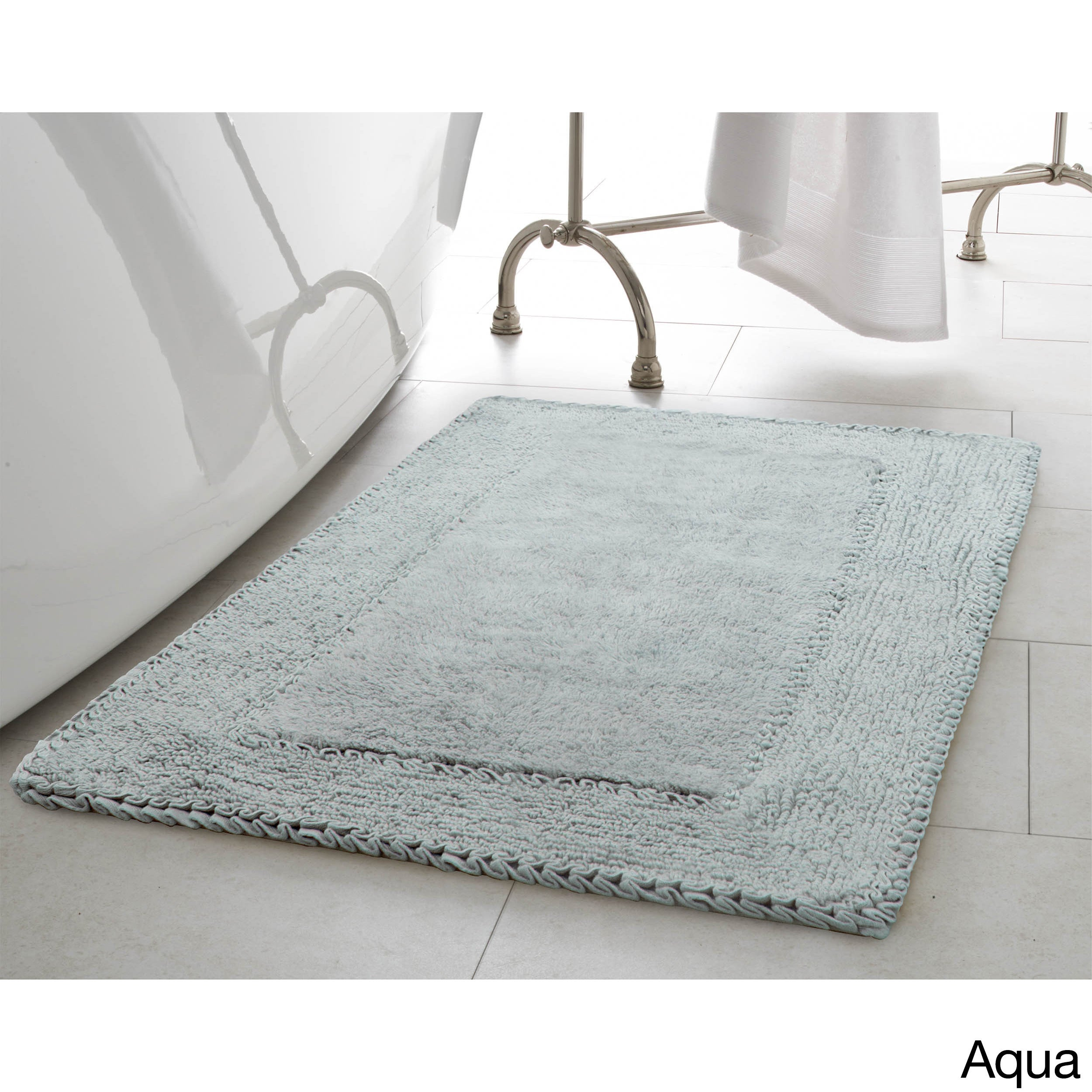 Shop Laura Ashley Ruffle Cotton 20 X 34 Inch Bath Rug   Free Shipping On  Orders Over $45   Overstock.com   14228309