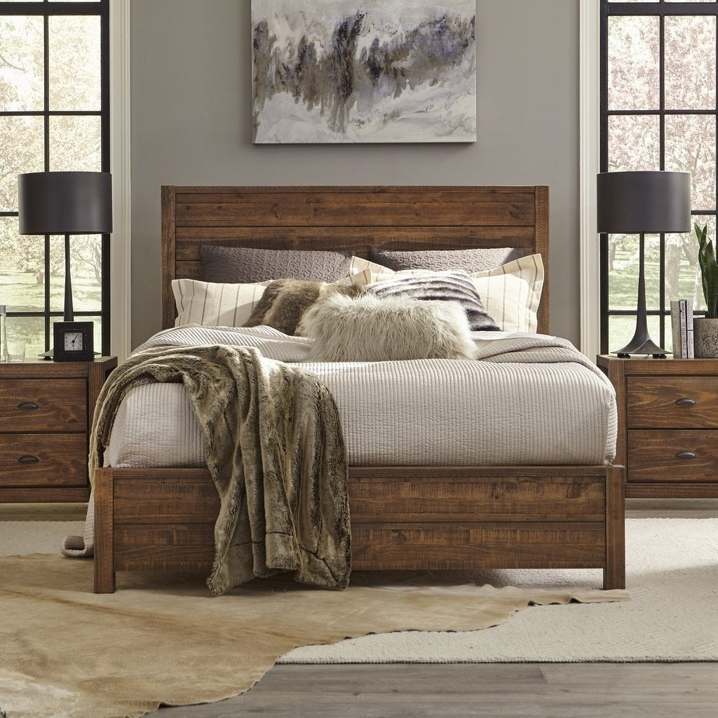 Grain Wood Furniture Montauk Solid Wood King Panel Bed