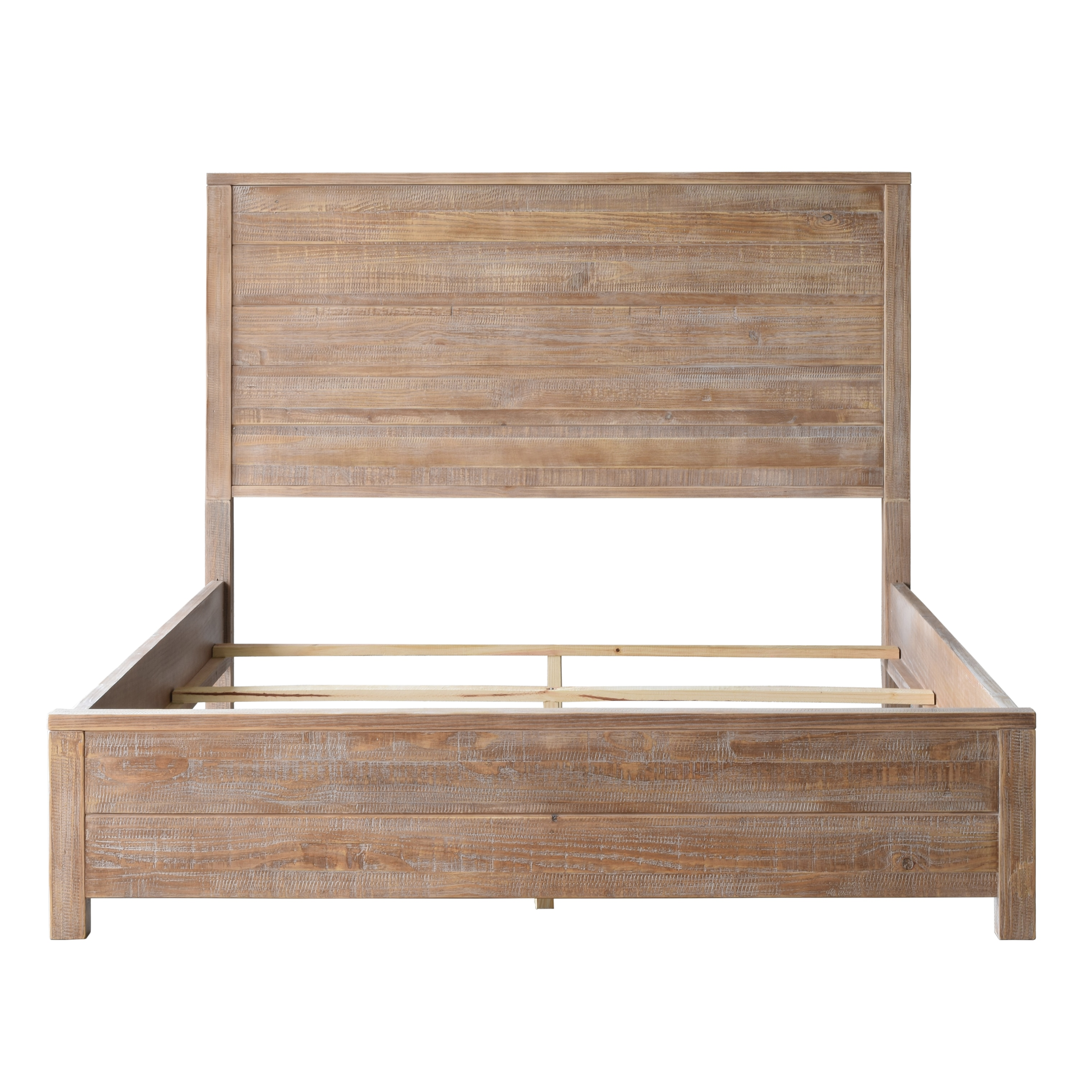 Shop Grain Wood Furniture Montauk King Solid Wood Panel Bed - Free ...