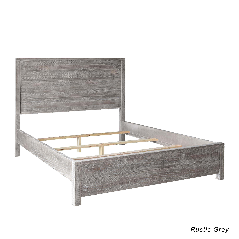 Grain Wood Furniture Montauk King Solid Wood Panel Bed - Free ...