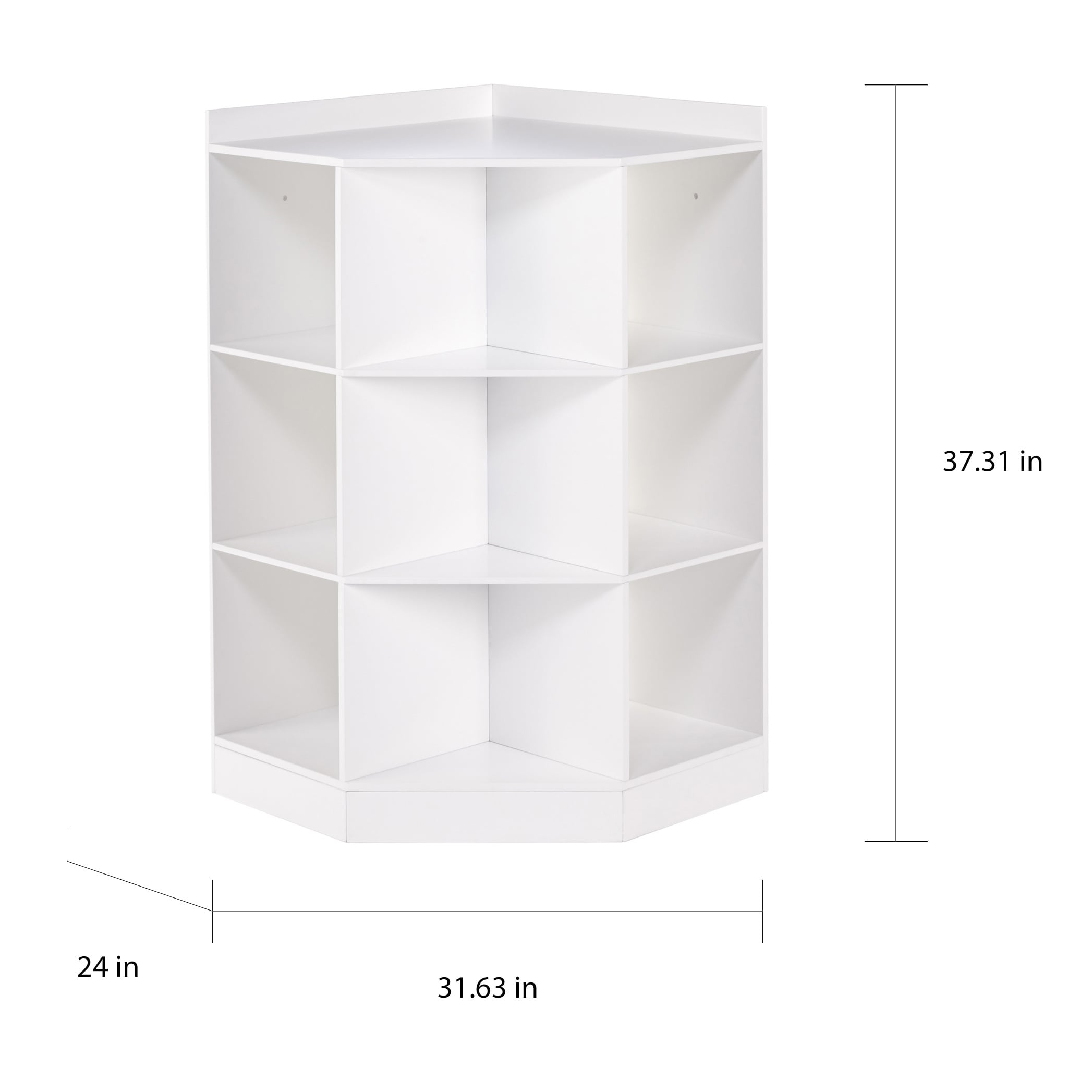 Shop RiverRidge® Kids 6 Cubby, 3 Shelf Corner Cabinet   White   Free  Shipping Today   Overstock.com   14229822