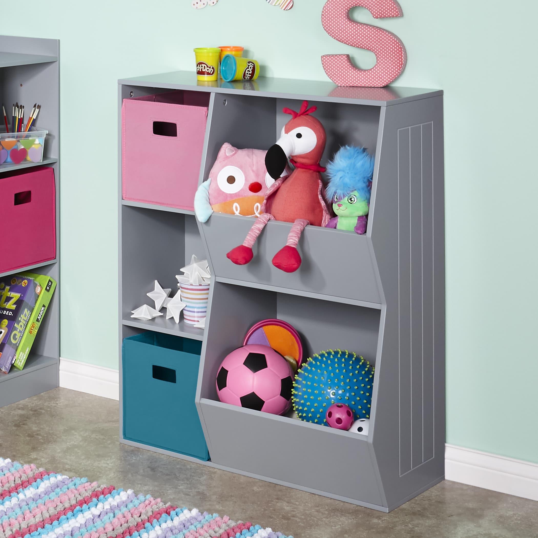 Shop RiverRidge® Kids 3 Cubby, 2 Veggie Bin Floor Cabinet   Free Shipping  Today   Overstock.com   14229835