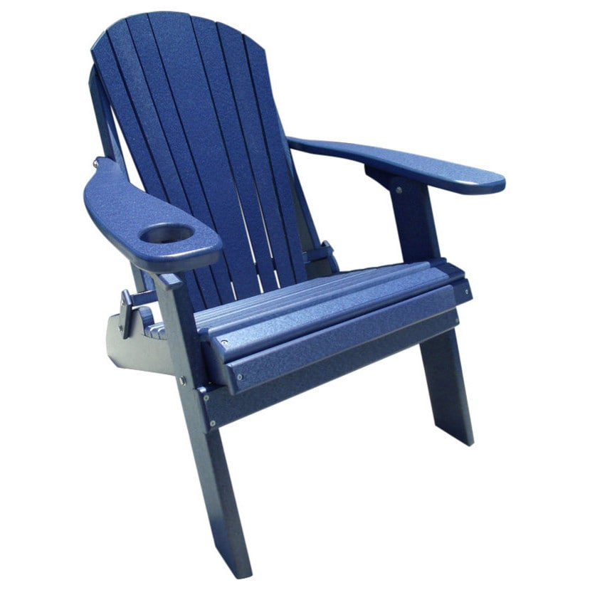 Outstanding Poly Lumber Wood Folding Adirondack Chair With Cup Holder Download Free Architecture Designs Pushbritishbridgeorg