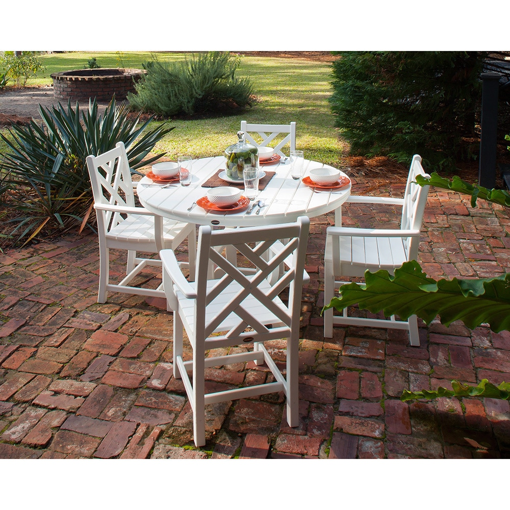 Shop POLYWOOD Chippendale 5 Piece Outdoor Dining Set   Free Shipping Today    Overstock.com   14230380