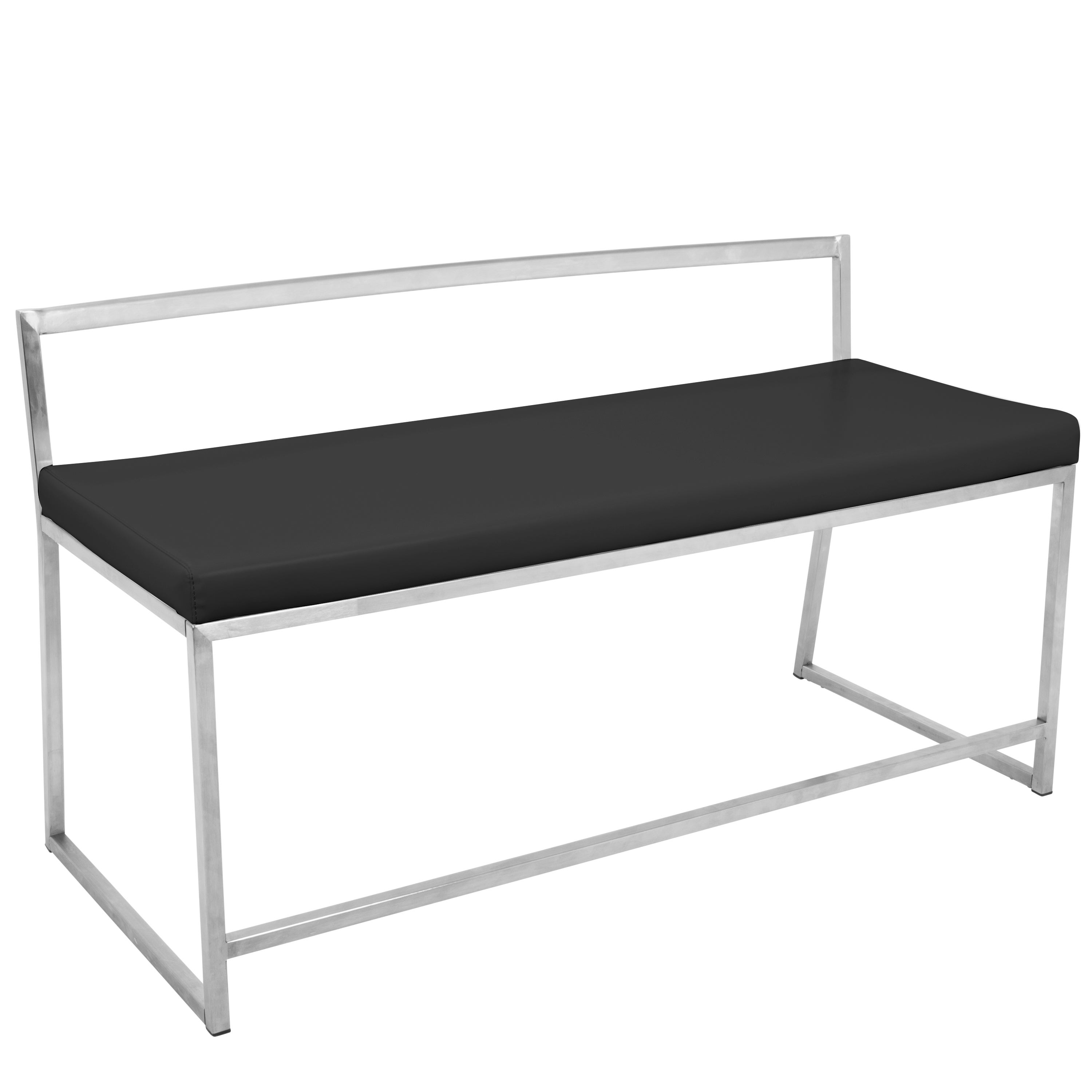 Captivating Shop Fuji Contemporary Dining / Entryway Bench In Faux Leather   On Sale    Free Shipping Today   Overstock.com   14230399