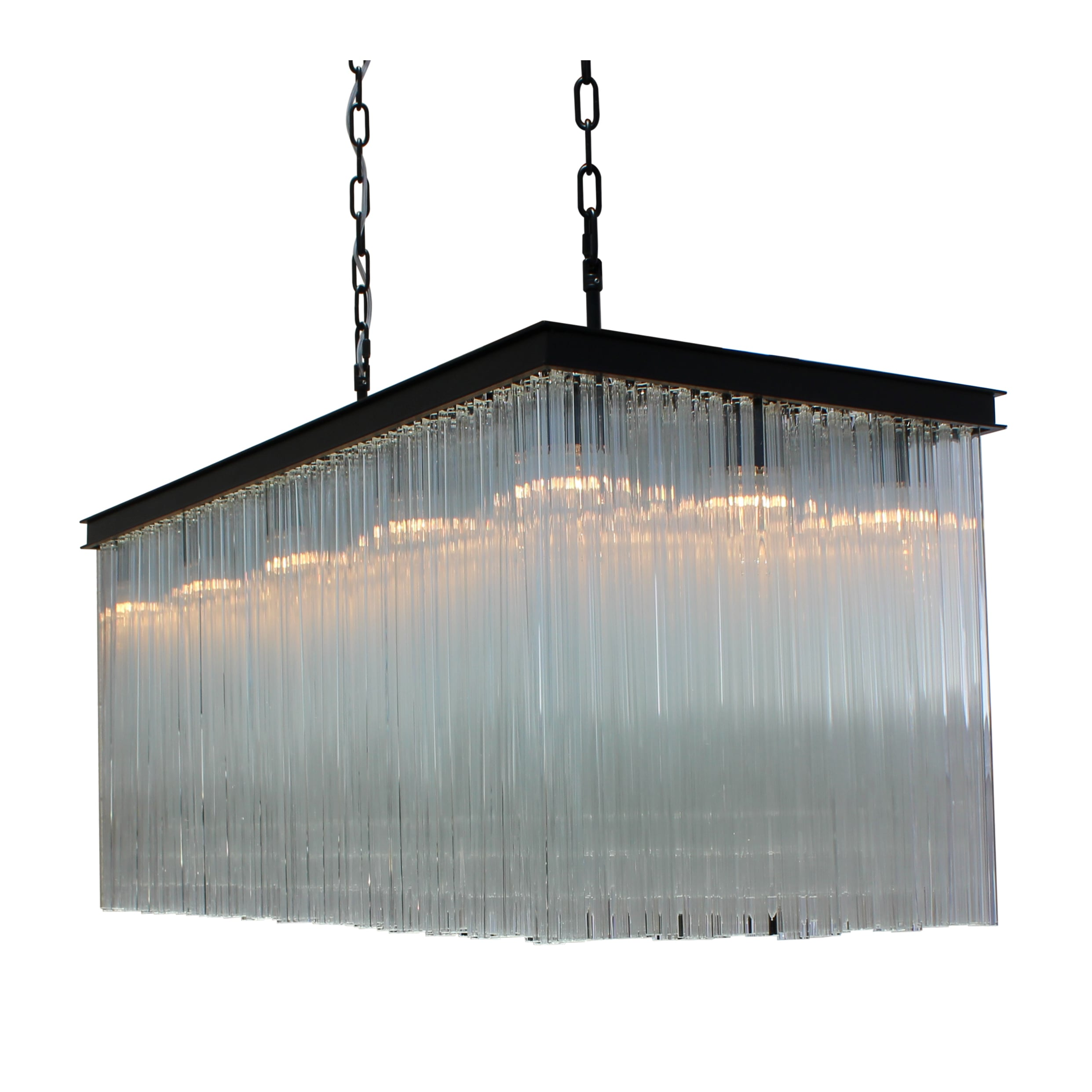 decorexi chrome drop round products prism chandelier glass smoke cascade