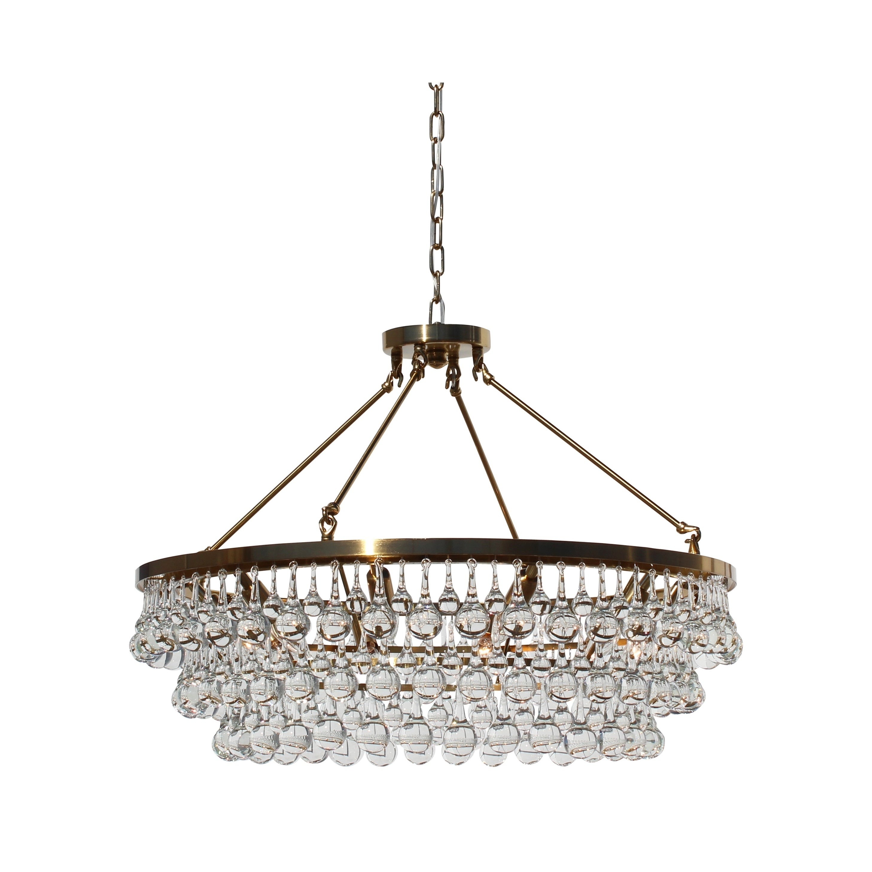 Celeste Glass Drop Crystal Chandelier Brass Free Shipping Today
