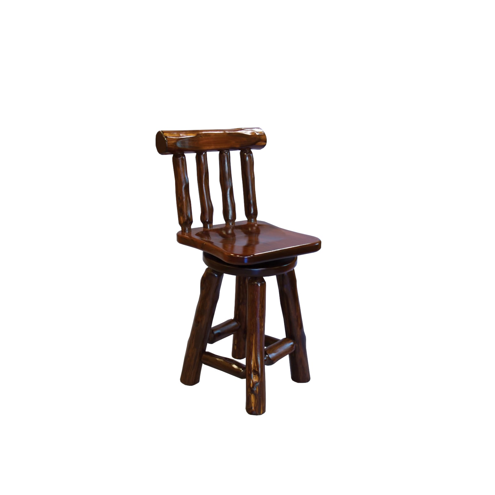 Shop live edge rustic red cedar log bar stools amish made usa multiple sizes free shipping today overstock com 14230758
