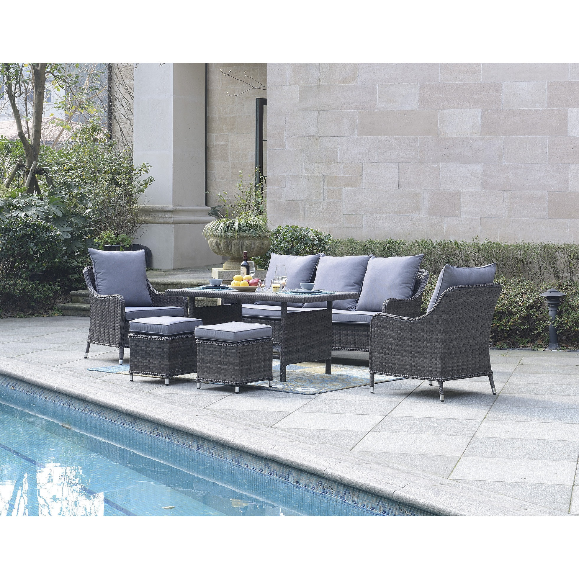 Dg Casa Maui 6 Piece Outdoor Dining Set Free Shipping Today 14230830