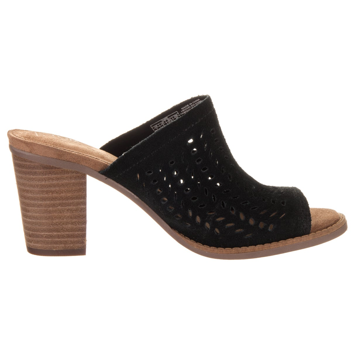 4d794132913 Shop Toms Women s Majorca Mule Black Suede Sandals - Free Shipping Today -  Overstock - 14231007