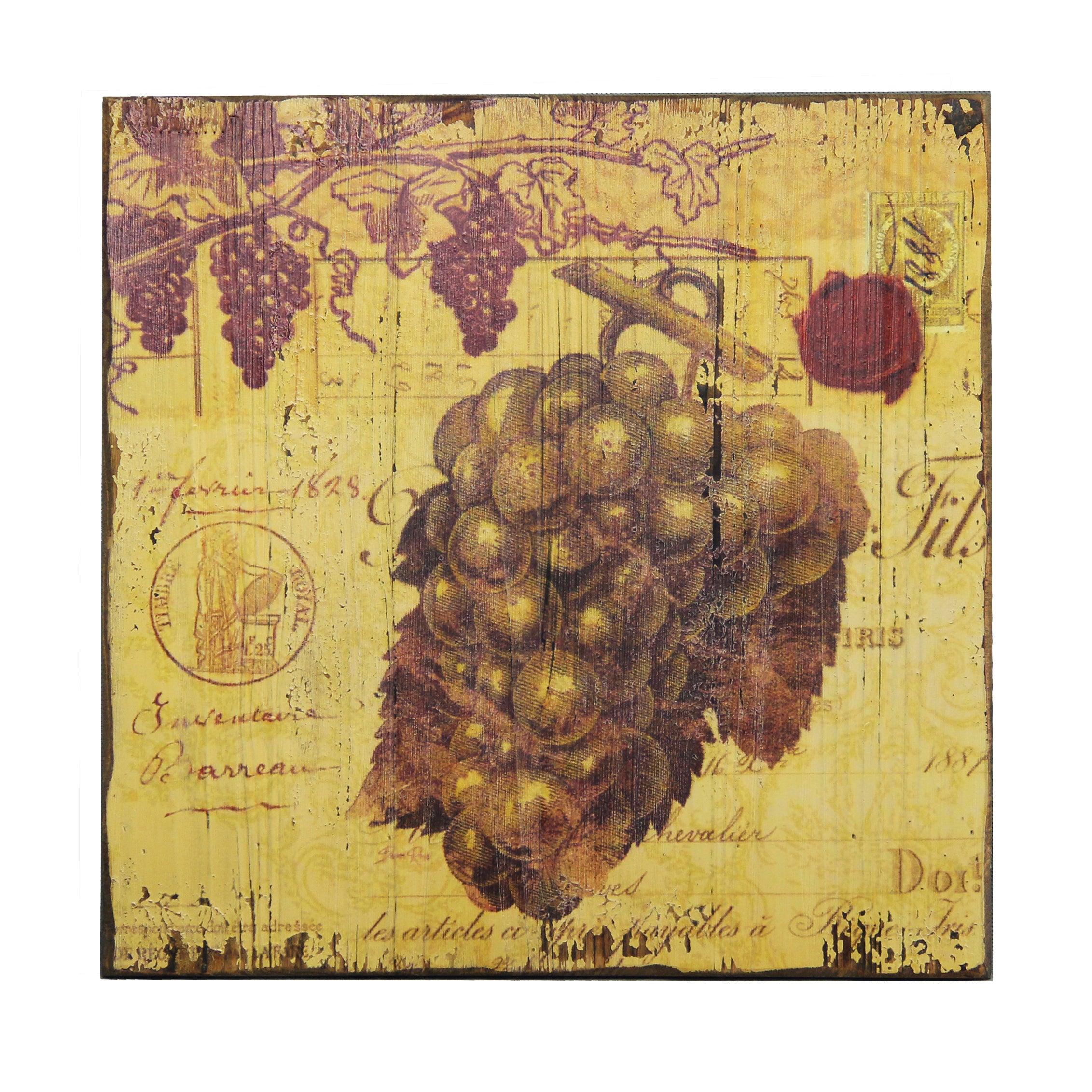 Vintage Grape Vine\' Wall Plaque - Free Shipping On Orders Over $45 ...