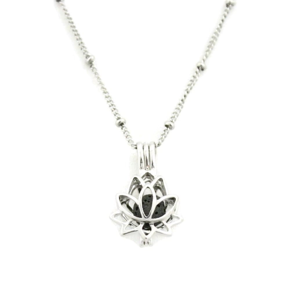 Shop Glory 316l Stainless Steel Silver Lotus Flower Essential Oil