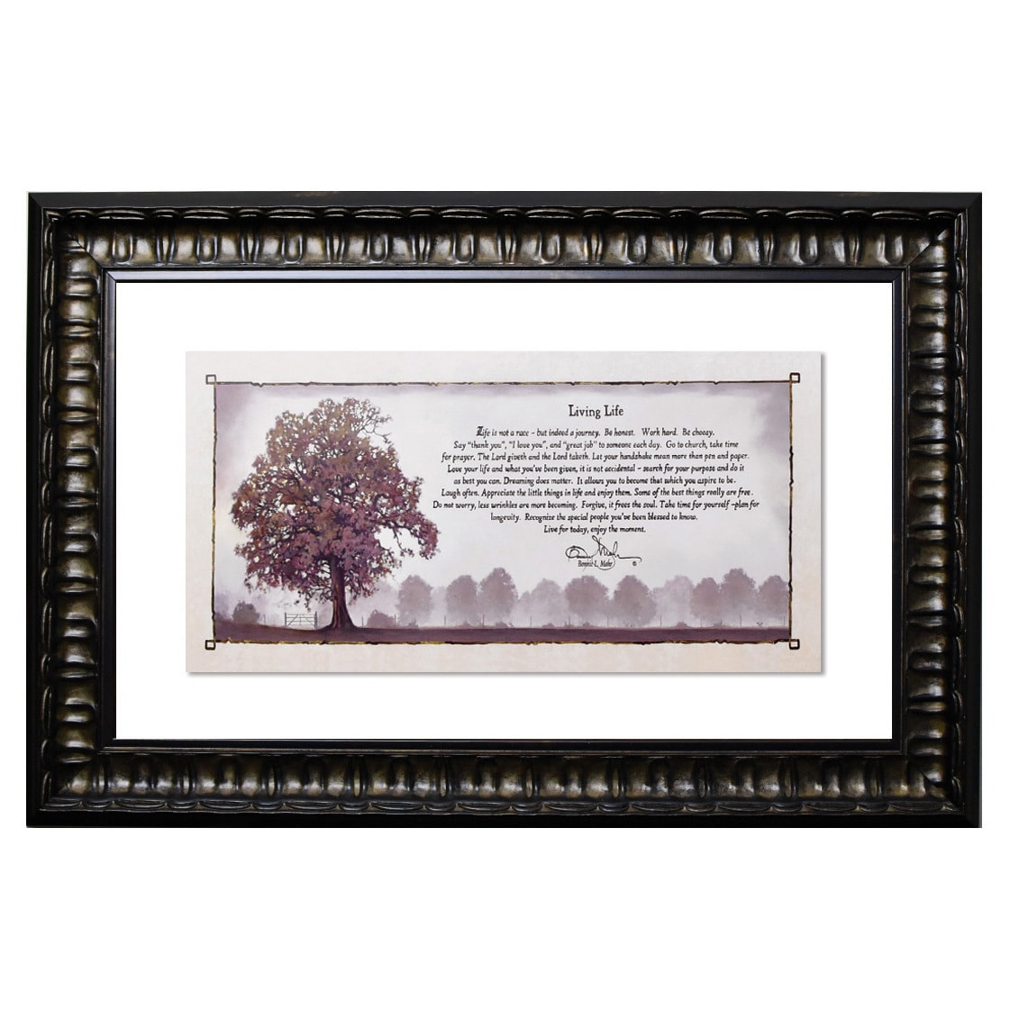 Living Life Framed Wall Art - Free Shipping Today - Overstock.com ...