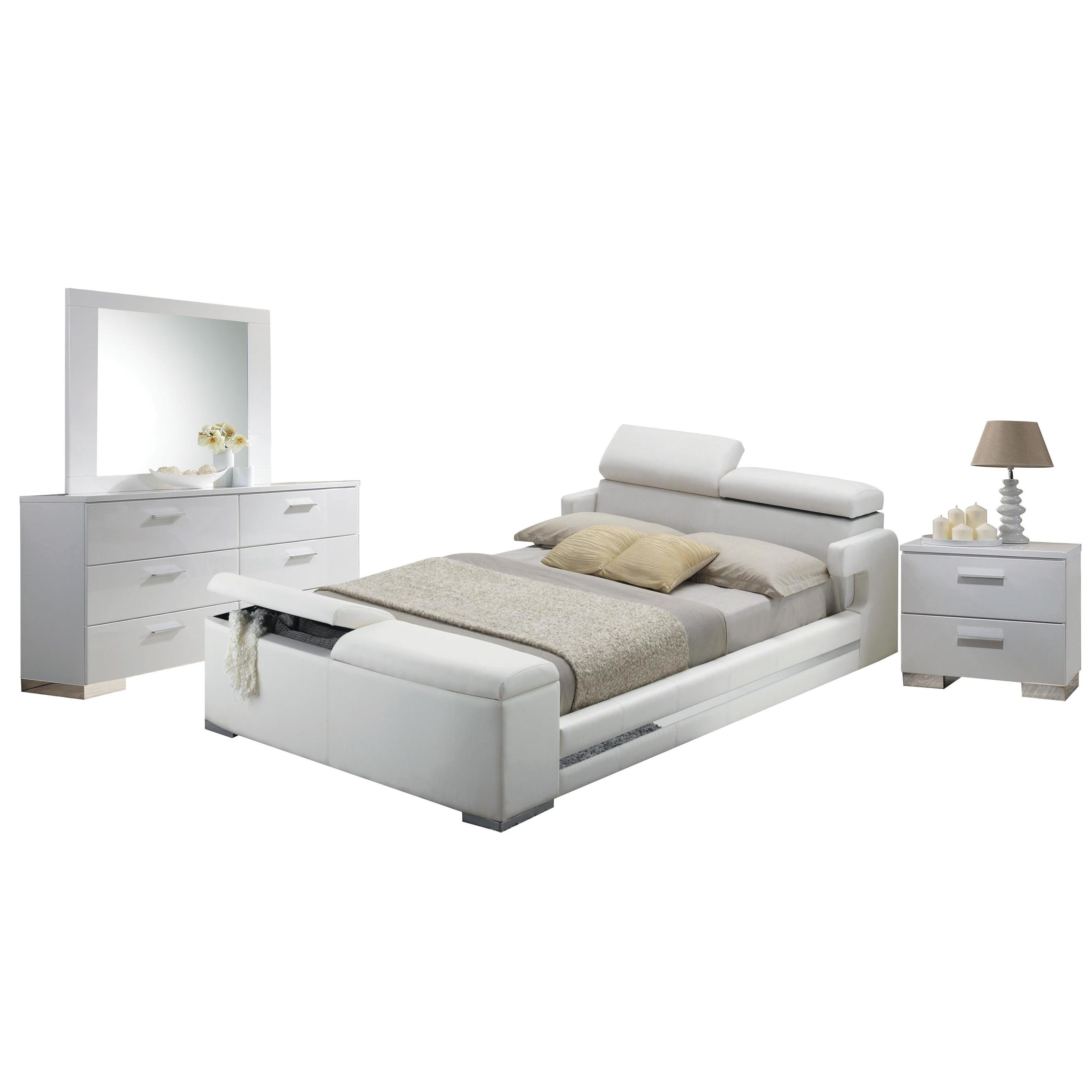 Shop Acme Furniture Layla 4-Piece Bedroom Set, White - Free Shipping ...