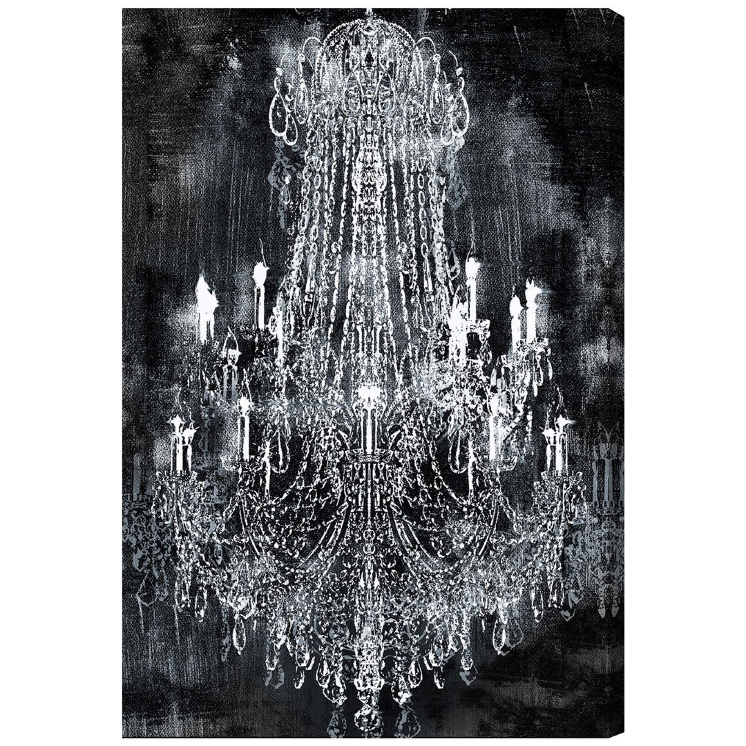 art click led canvas chandelier oyster expand wall to p vintage lighted