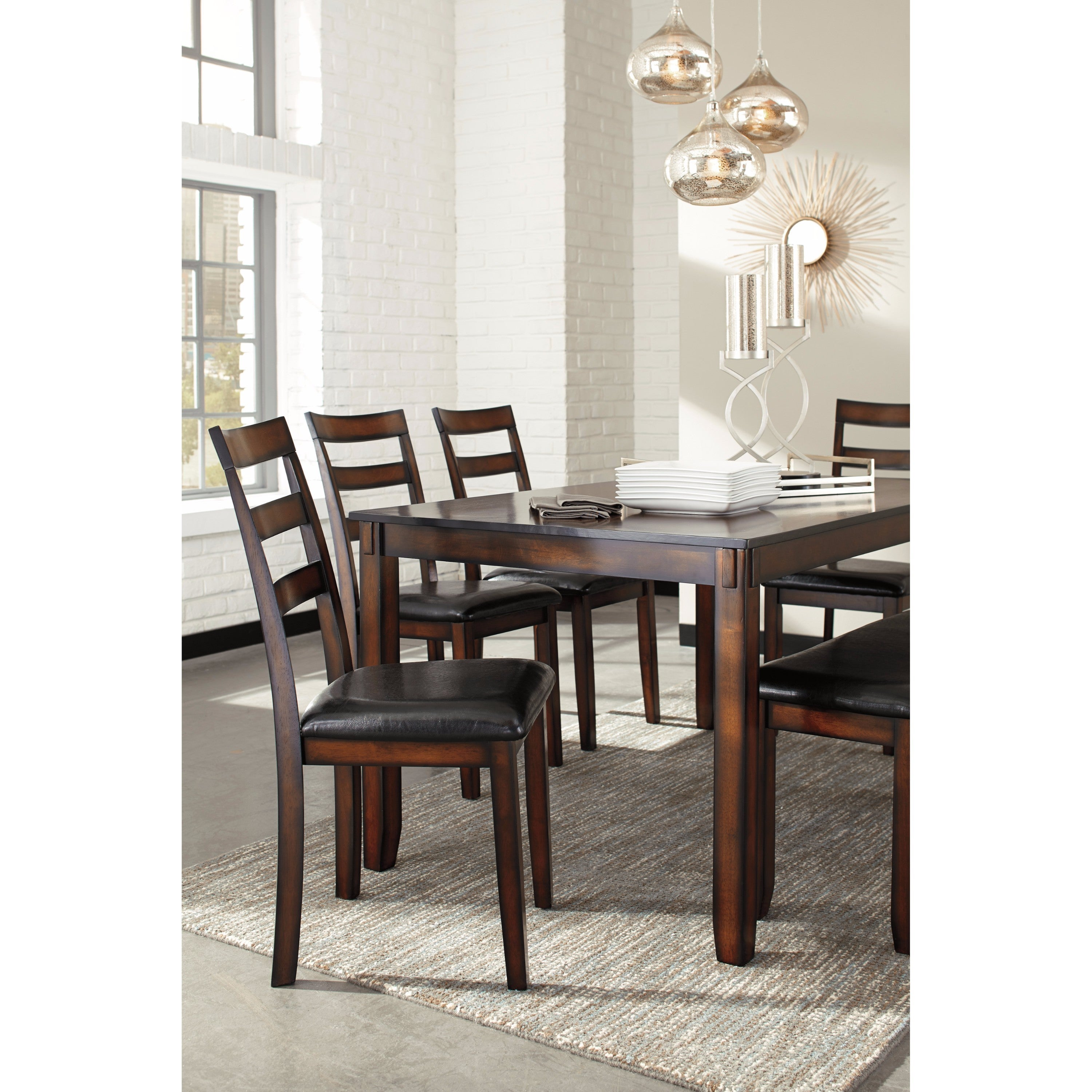 0a4b8b6af0041c Shop Signature Design by Ashley Coviar Brown 6-Piece Dining Room Table Set  - Free Shipping Today - Overstock - 14253499