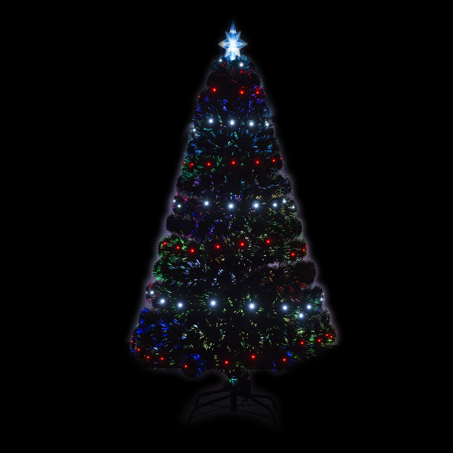 shop homcom 5 artificial holiday fiber optic light up christmas tree free shipping today overstockcom 14253535
