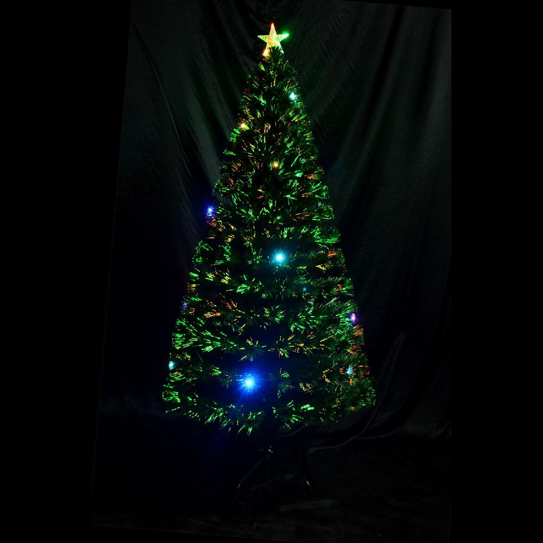 13d977c7e925 Shop HomCom 6' Indoor Artificial Fiber Optic Light Up Holiday Xmas  Decoration Christmas Tree - Free Shipping Today - Overstock - 14253538