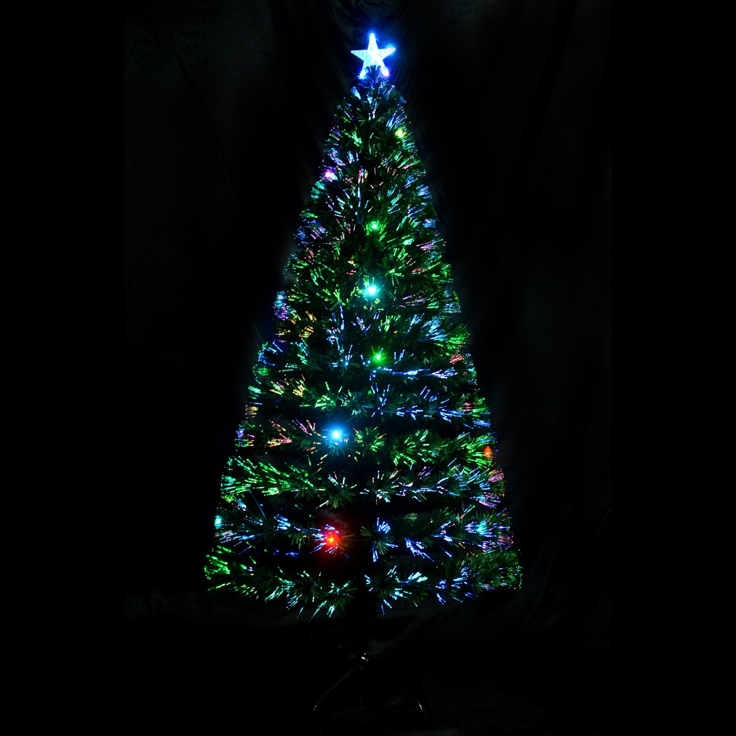 shop homcom 6 indoor artificial fiber optic light up holiday xmas decoration christmas tree on sale free shipping today overstockcom 14253538