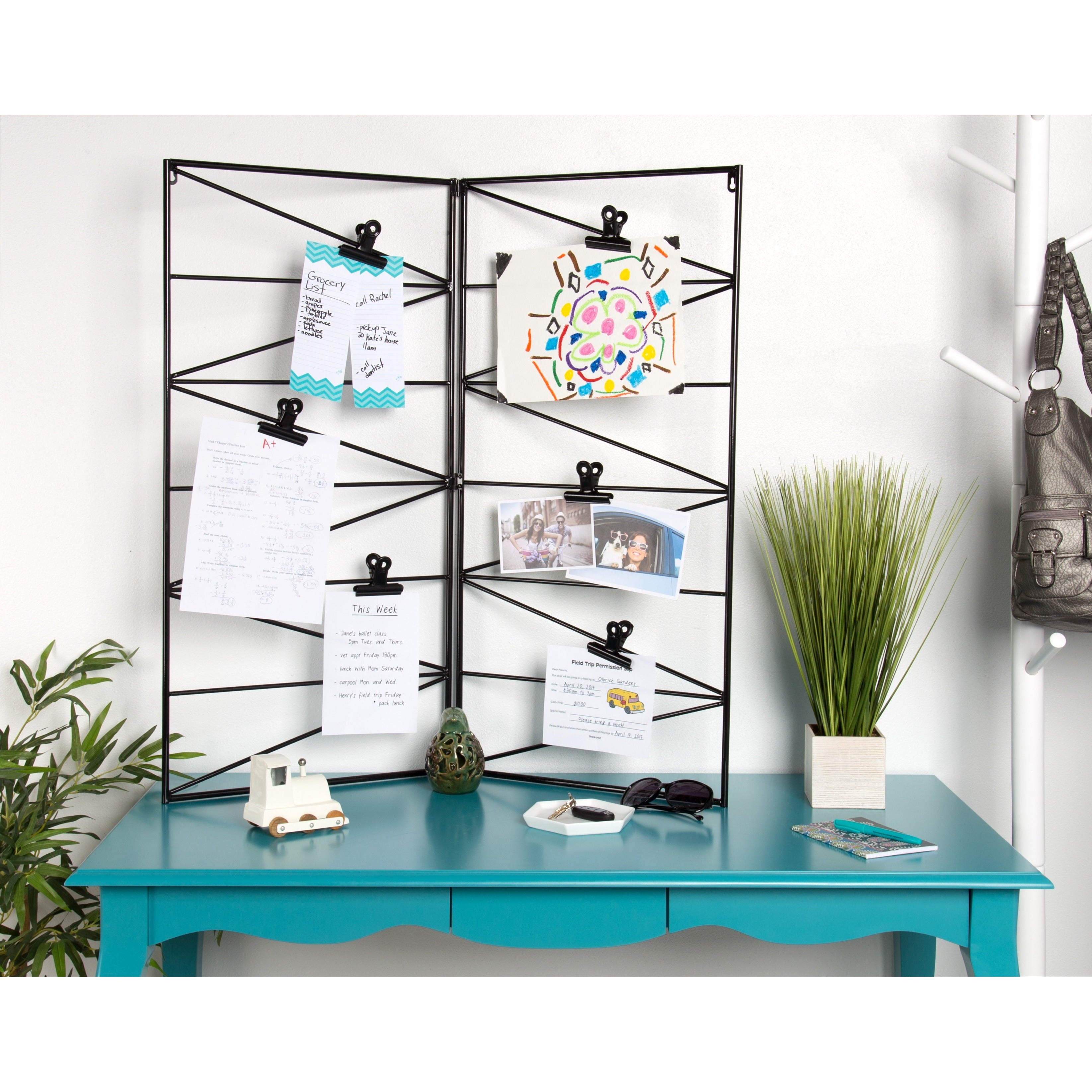 Shop Whitt Wire and Clips Metal Geometric Wall Organizer - Free ...