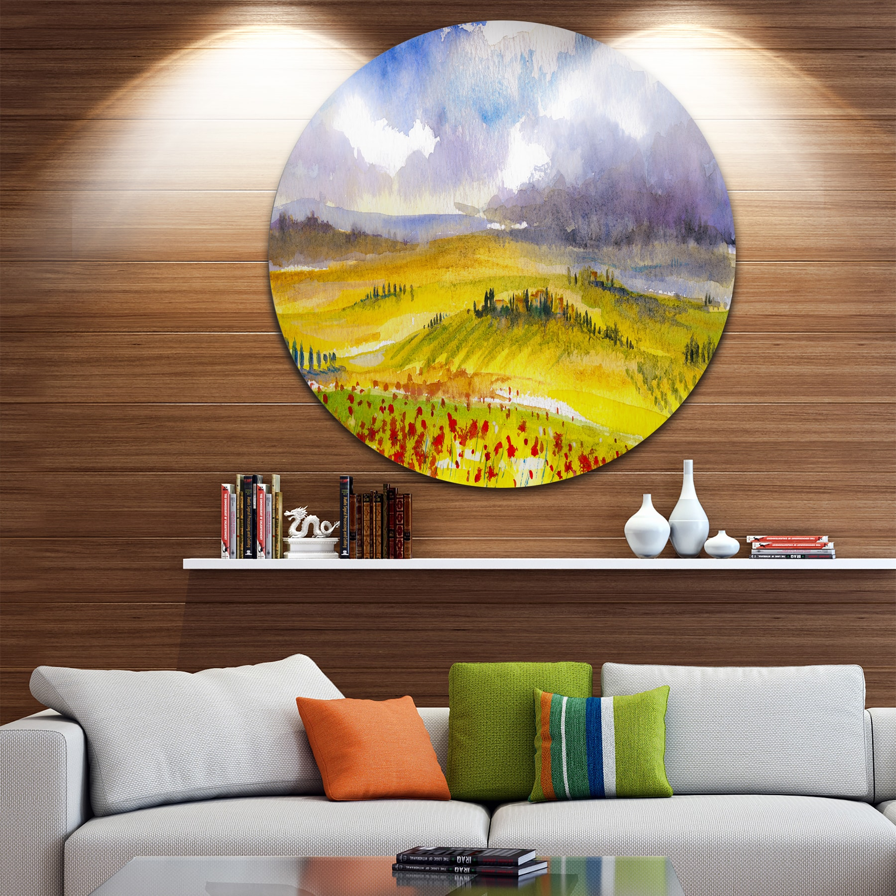 Shop Designart \'Beautiful Tuscan Hills Italy\' Landscape Painting ...
