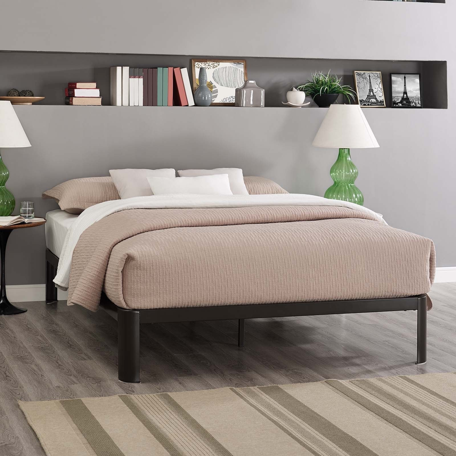 bac536eada6a04 Shop Corinne Steel Full-Size Platform Bed - On Sale - Free Shipping Today -  Overstock - 14255977
