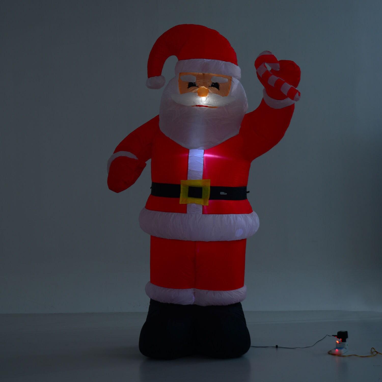 Homcom 8Ft Indooroutdoor Led Inflatable Holiday Christmas Yard Decoration Santa