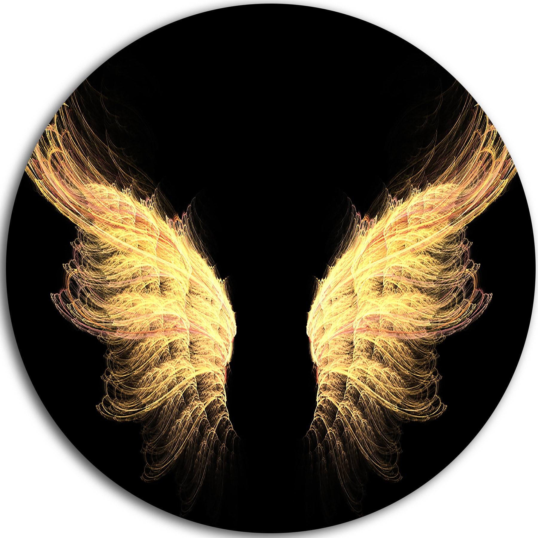 Awesome Angel Wings Heart Wall Decor Image - Wall Art Collections ...