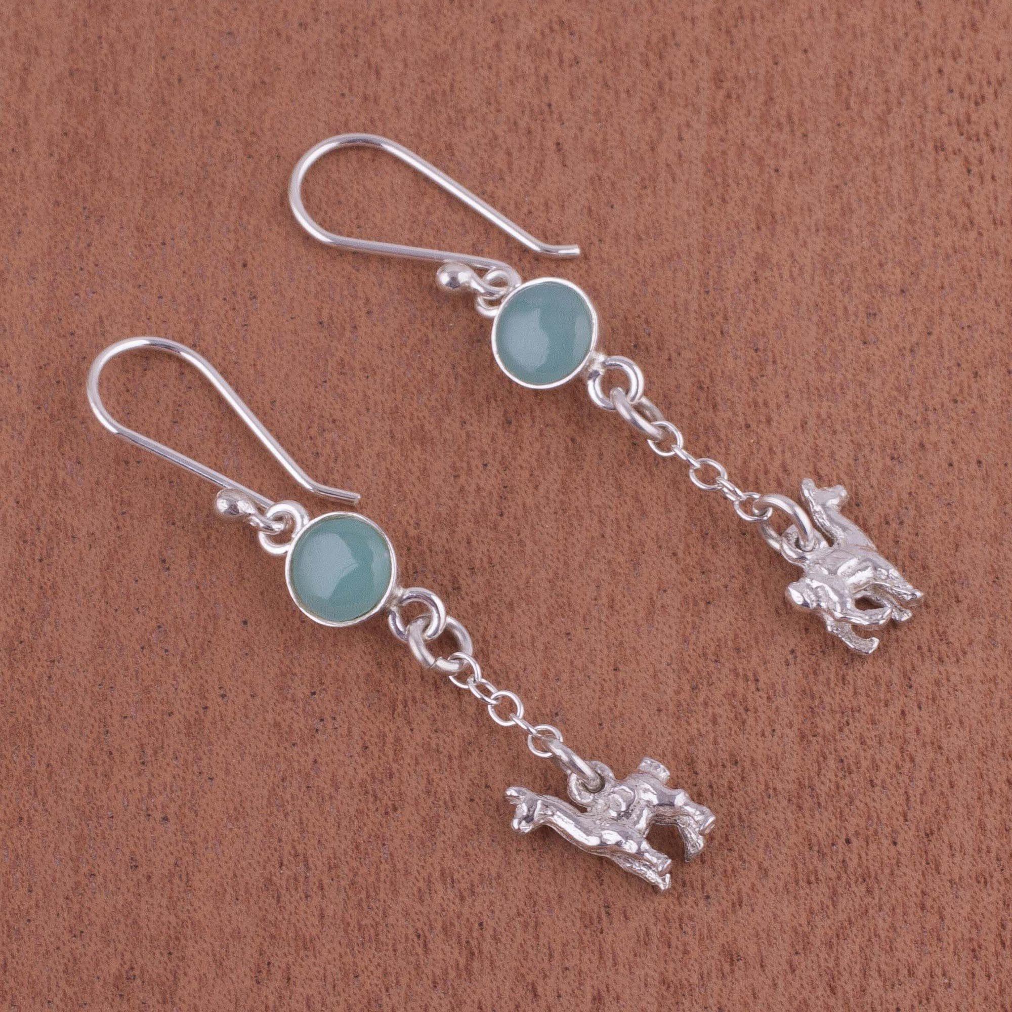 10a0b3064 Shop Handmade Sterling Silver 'Llama Light' Opal Earrings (Peru) - On Sale  - Free Shipping Today - Overstock - 14265306