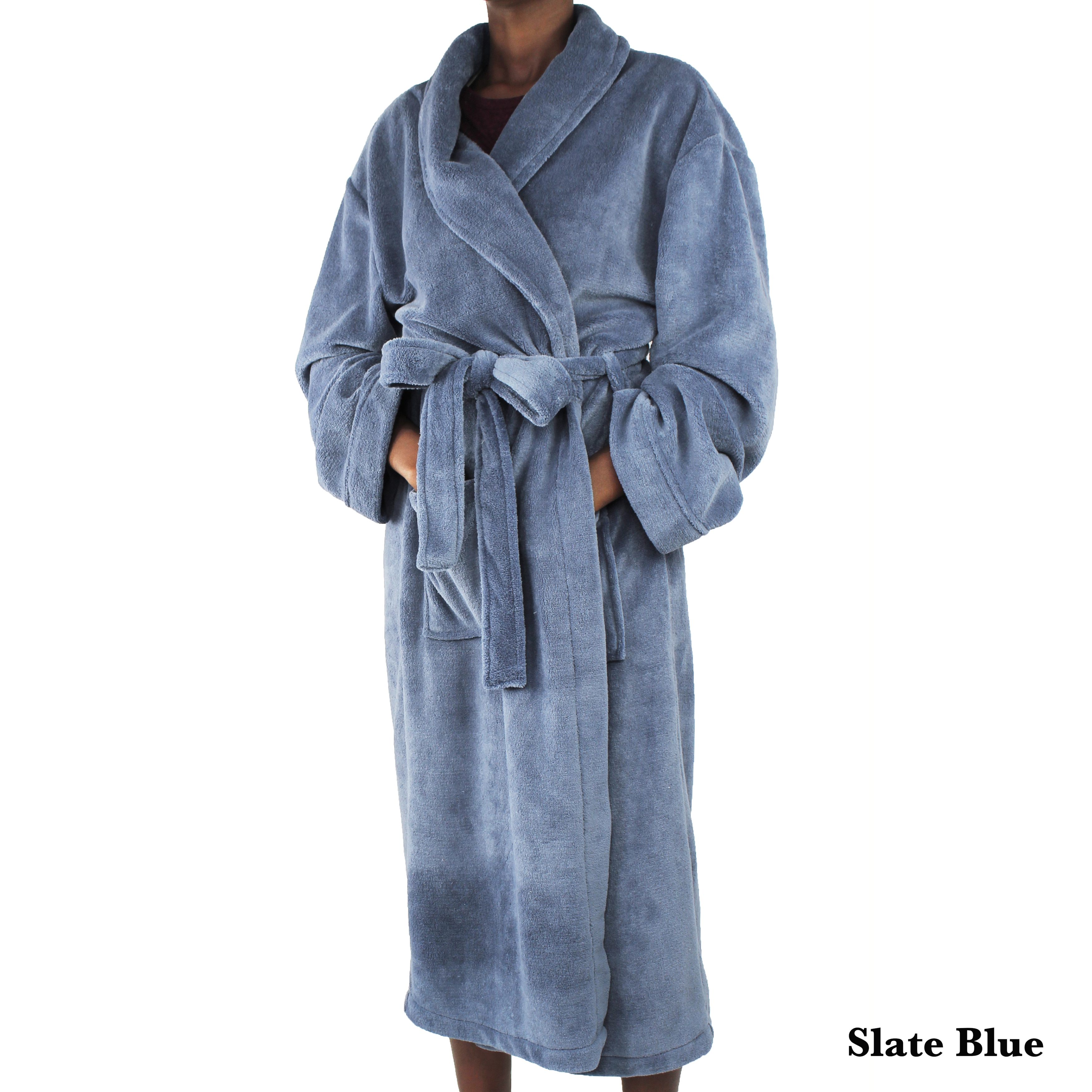 c622043c80 Shop Luxury Super Soft Coral Fleece Bathrobe - Free Shipping Today -  Overstock - 14268066