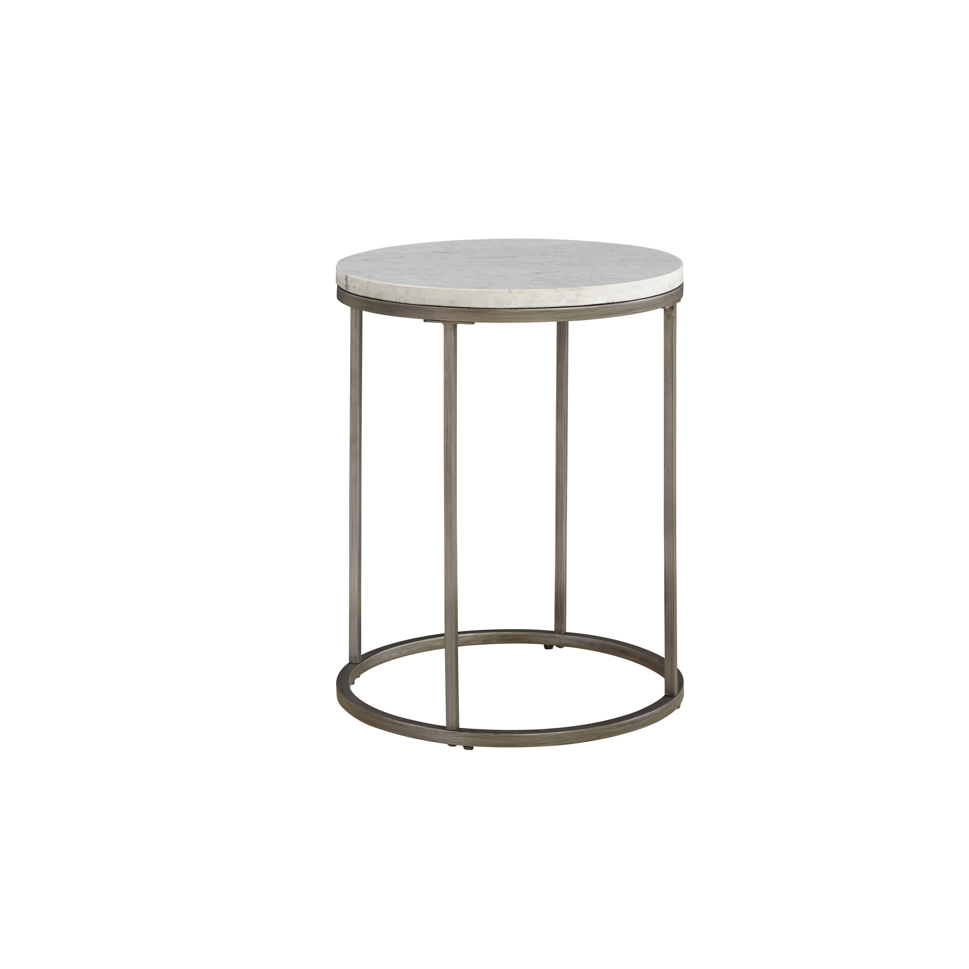 Shop COntemporary Alana White Marble Round Accent Table Free - White marble and metal round accent table