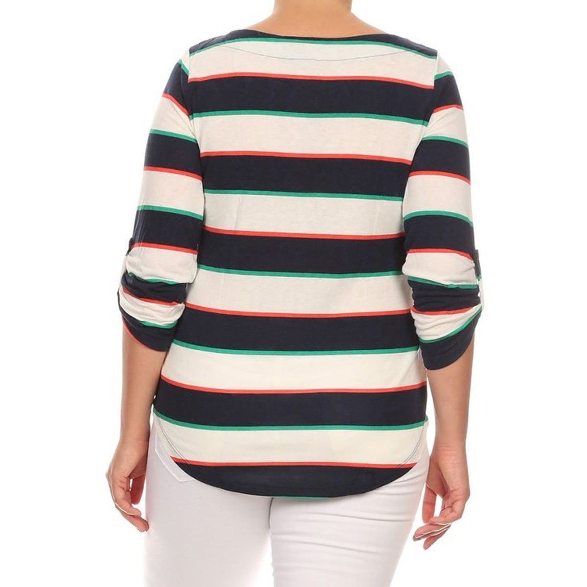 d0cd0ce7a9a Shop Women s Plus-size Striped Tunic - On Sale - Free Shipping On ...