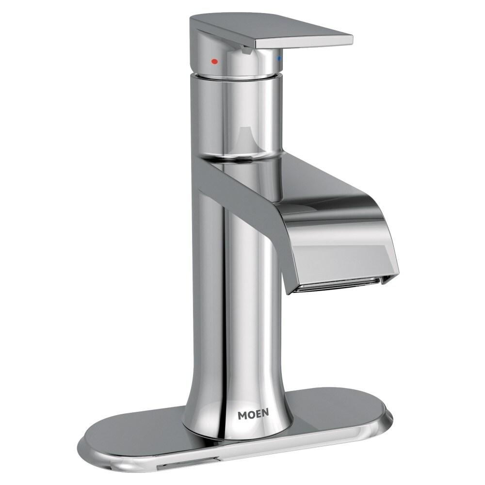 Shop Moen Genta One-Handle High Arc Bathroom Faucet 6702 Chrome ...