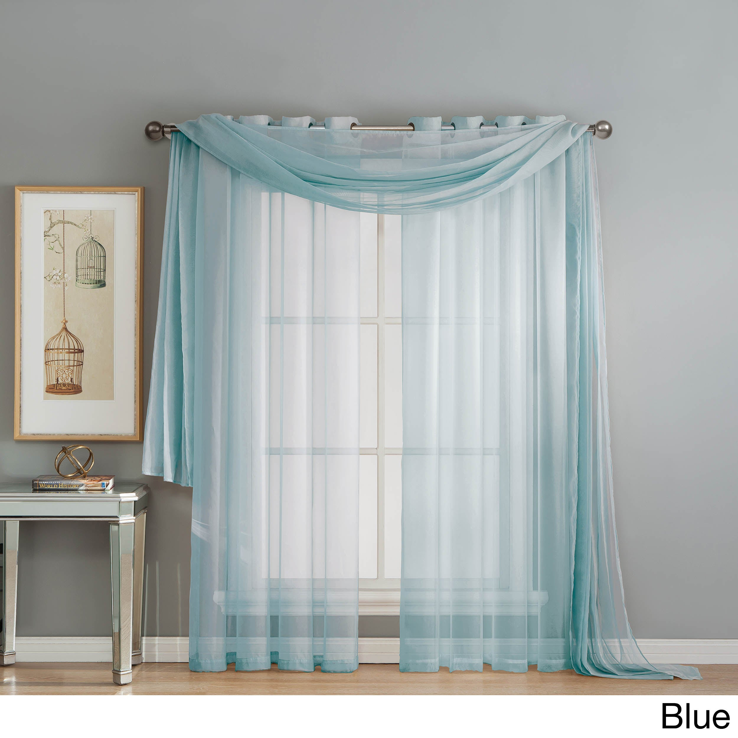 sheer classics voile window curtains home crushed curtain treatments
