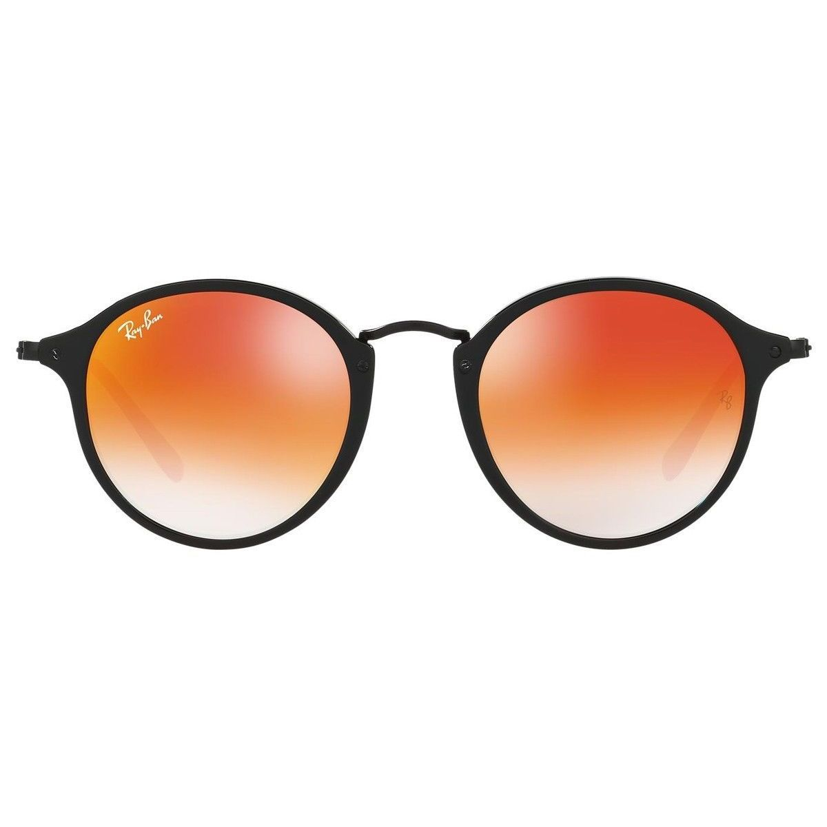 fb2c14605bb Shop Ray-Ban RB2447 901 4W Round Fleck Black Frame Orange Gradient Flash  52mm Lens Sunglasses - Ships To Canada - Overstock - 14276934
