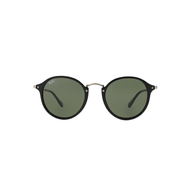 6e26bd83edb Ray-Ban Round Fleck RB2447 901 4J Black Frame Green Gradient Flash Lens  Sunglasses