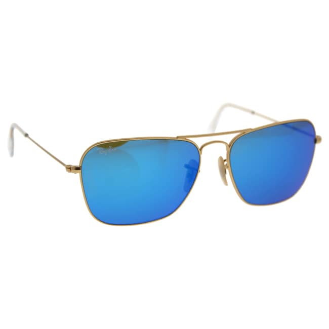 a463e3cde42 ... get shop ray ban caravan rb3136 112 17 gold frame blue flash 58mm lens  sunglasses free