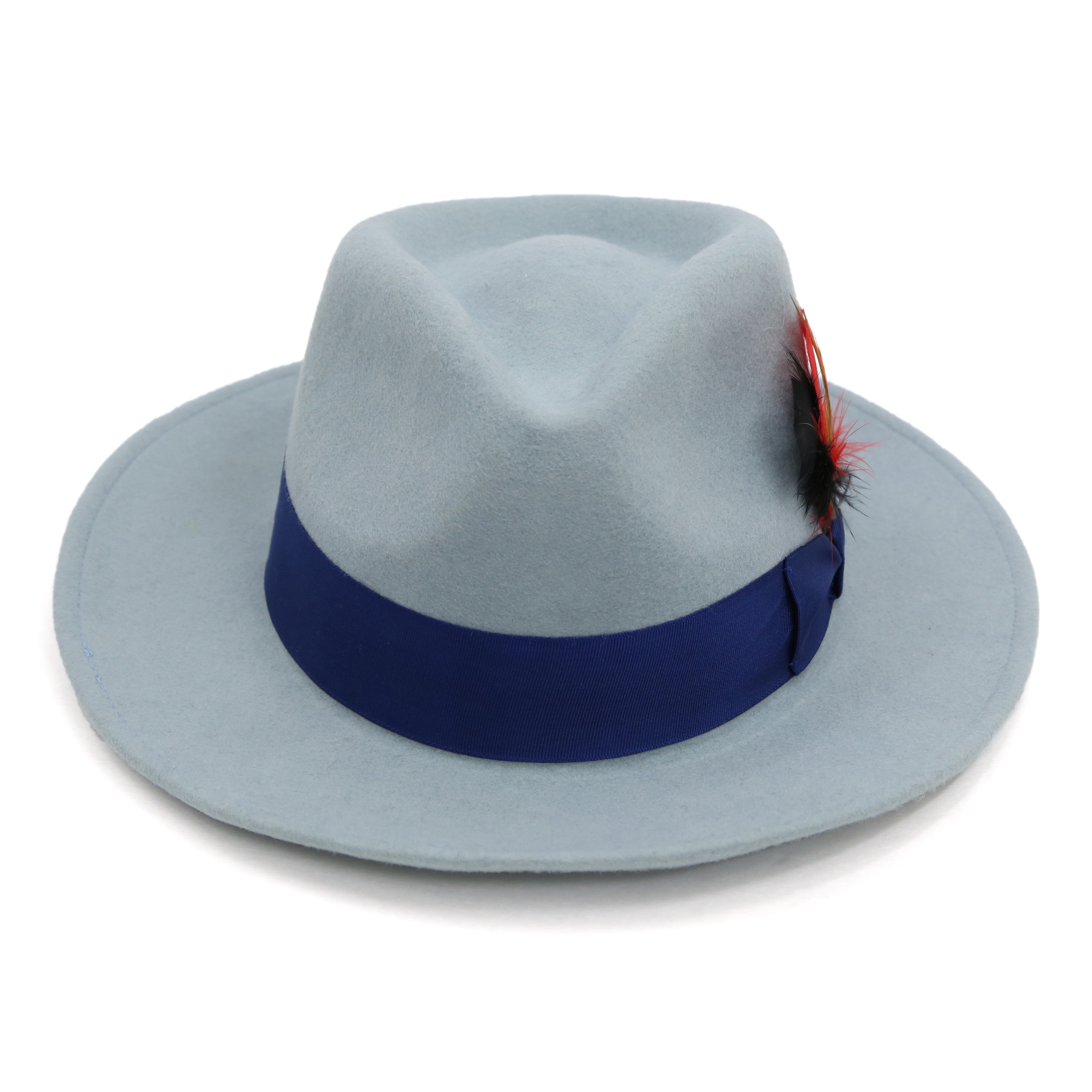 Shop ferrecci mens blue lined wool royal blue band fedora hat free shipping  on orders over 56251016765a