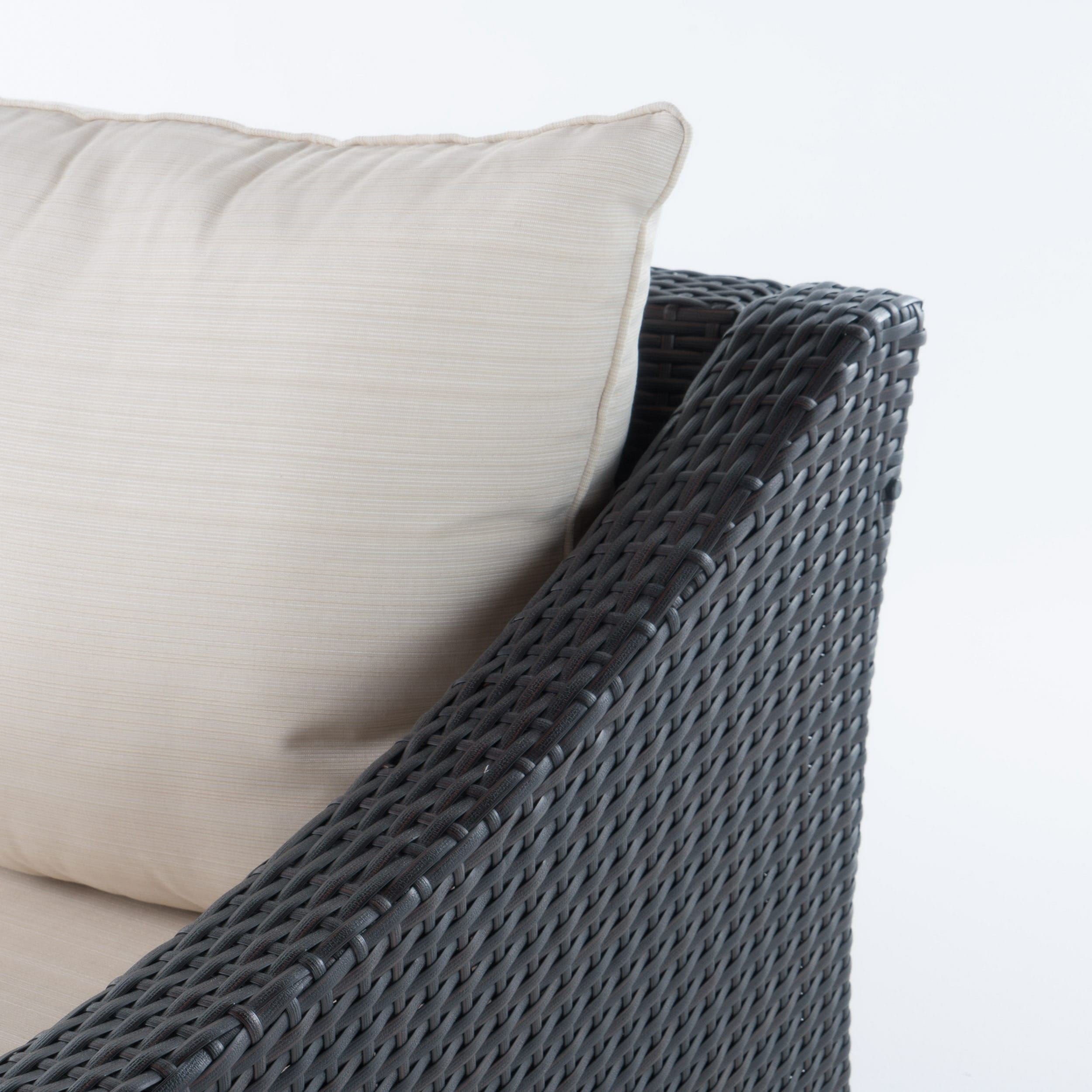 Antibes Outdoor 2-piece Wicker Sofa Set with Cushions by ...
