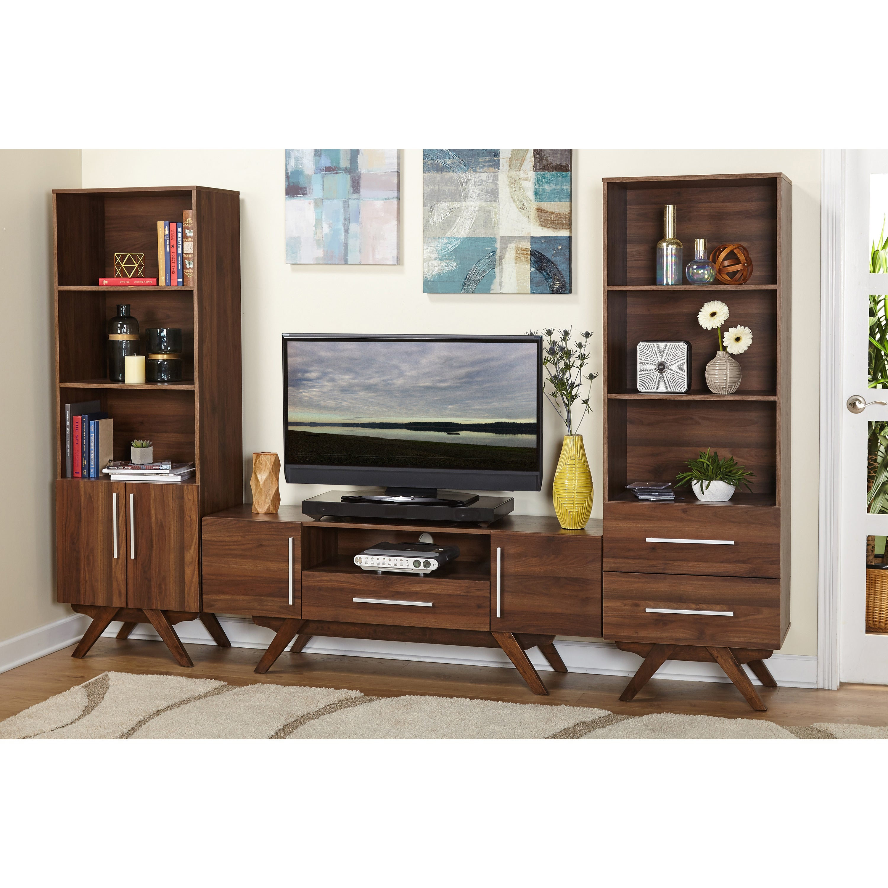 Shop simple living ashfield mid century entertainment unit on sale free shipping today overstock com 14289269