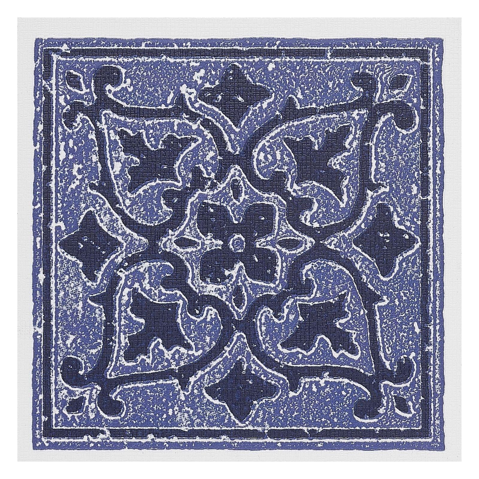 Shop Nexus Accent Blue 4x4 Self Adhesive Wall Tile - 27 Tiles/3 sq ...