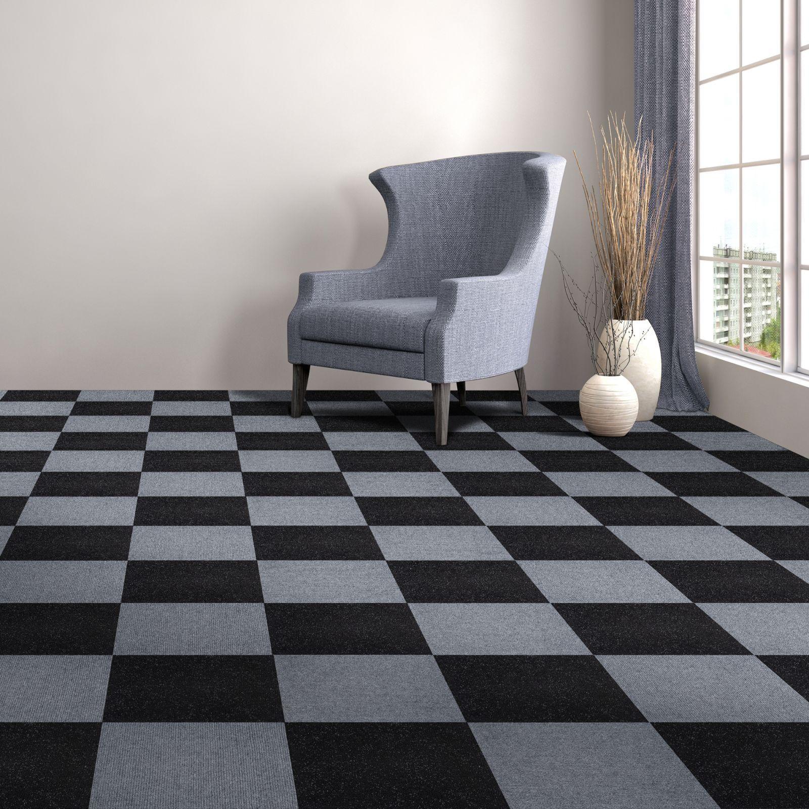 Achim Nexus Jet Self Adhesive Carpet Floor Tile (12 Tiles) - Free ...