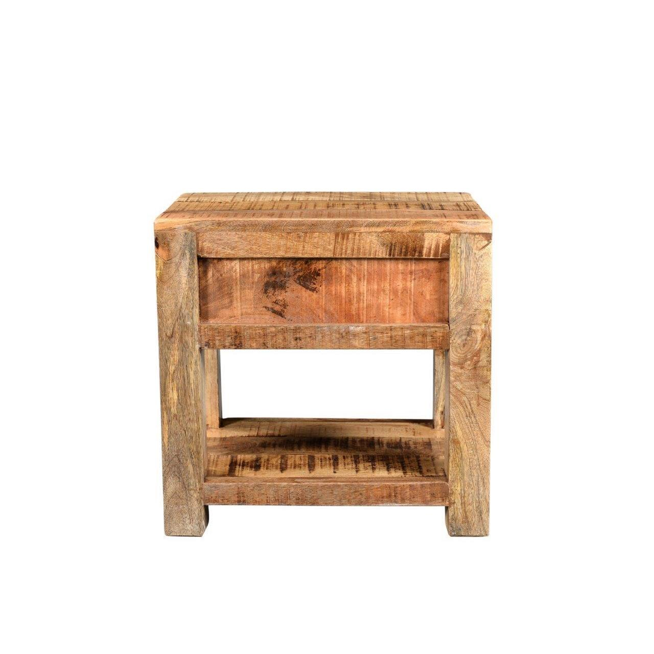 Timber Surat Mango Wood End Table On Free Shipping Today 14291280