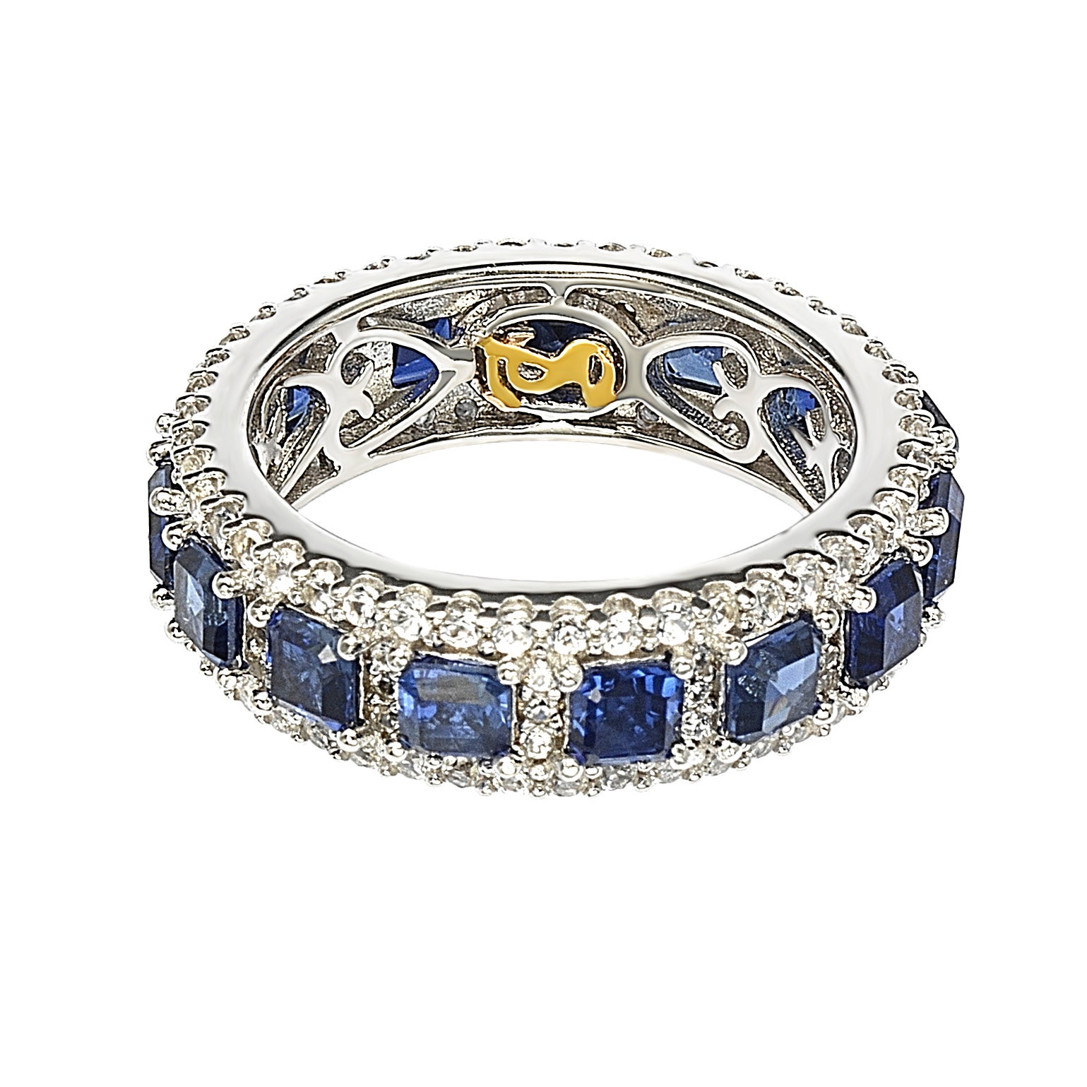 diamond halo bands anniversary eternity custom sapphire pave band top