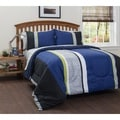 American Original Logan Stripe 7-piece Bed in a Bag with Sheet Set